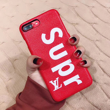 SUPREME LV iphone8ケース レッド