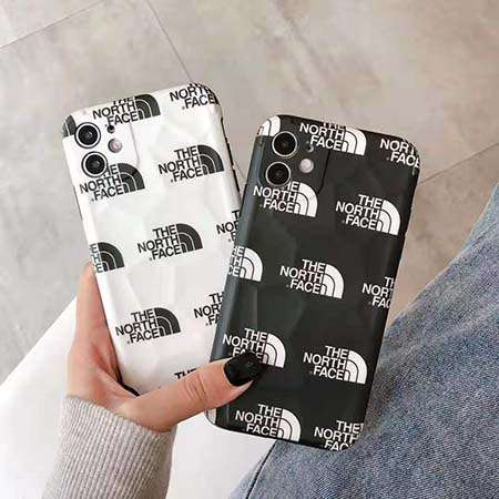 THE NORTH FACE iphone12ケース 黑 白 カップル用