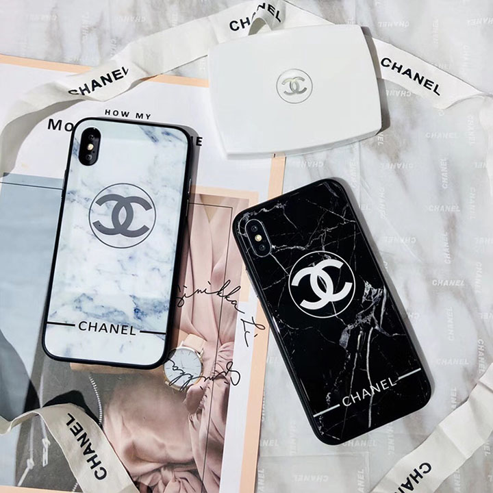 CHANEL iphone7plusケース 鏡面 大理石