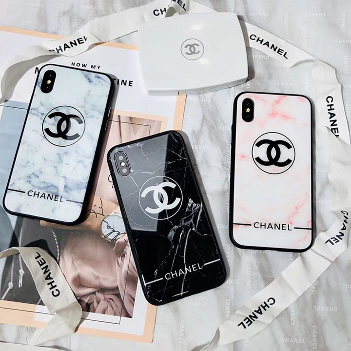 CHANEL iphone8plusケース 鏡面 大理石