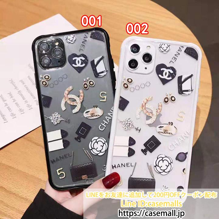 chanel iphone11proケース 透明ケース