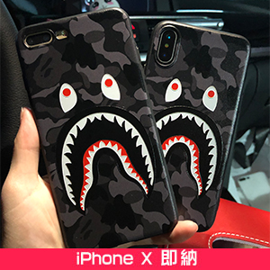 BAPE SHARK iphonex ケース 迷彩柄
