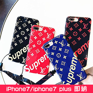 Supreme LV iphone8ケース ソフト