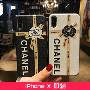 CHANEL iPhoneXカバー 花柄