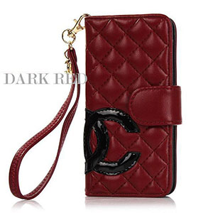 CHANEL iphone7plusカバー dark red