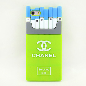 CHANEL iphone7plus ケース タバコ型 蛍光緑