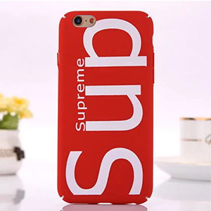supreme iphone7plusケース ペア レッド