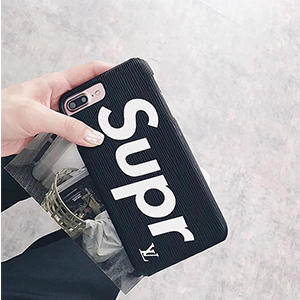 LV SUPREME iphone8カバー 黒